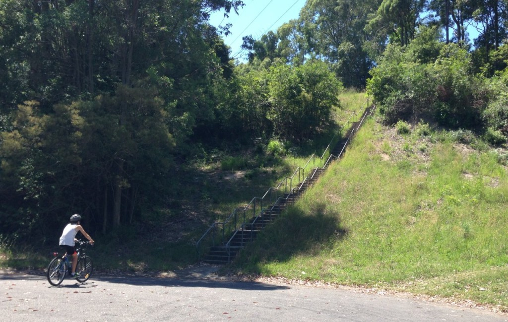 The stairs from Elton Close going up to Charlestown,