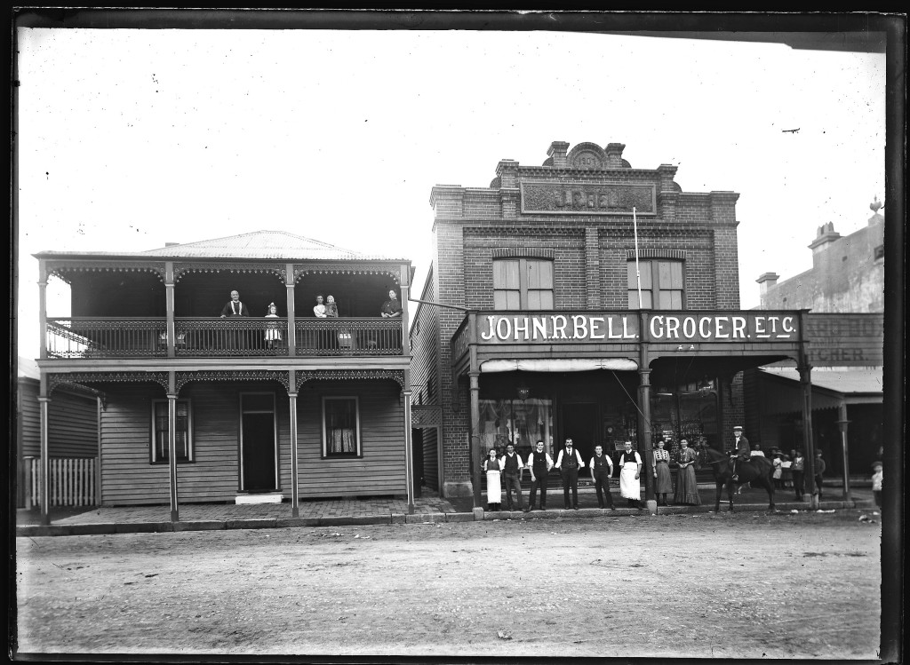 John R Bell Grocers. Photo by Ralph Snowball. University of Newcastle Cultural Collections.