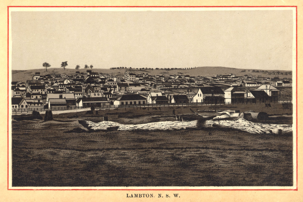 Etching of Lambton, circa 1885. University of Newcastle Cultural Collections.