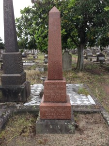 The grave site of Thomas Croudace, in Sandgate cemetery.