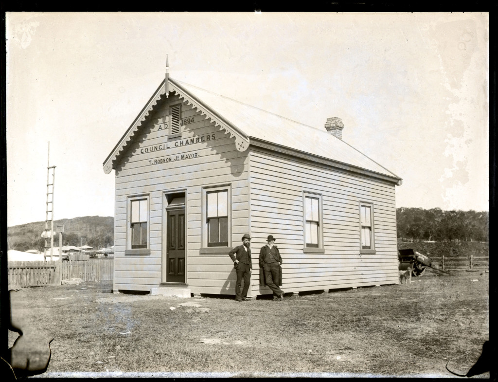 Merewether Council Chambers. Erected 1894. Photo by Ralph Snowball. University of Newcastle, Cultural Collections.