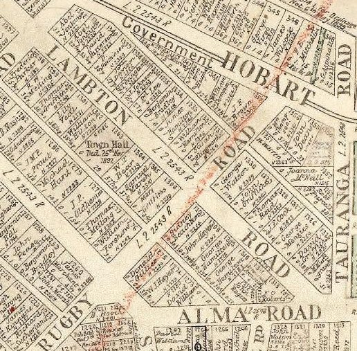 Location of New Lambton Town Hall