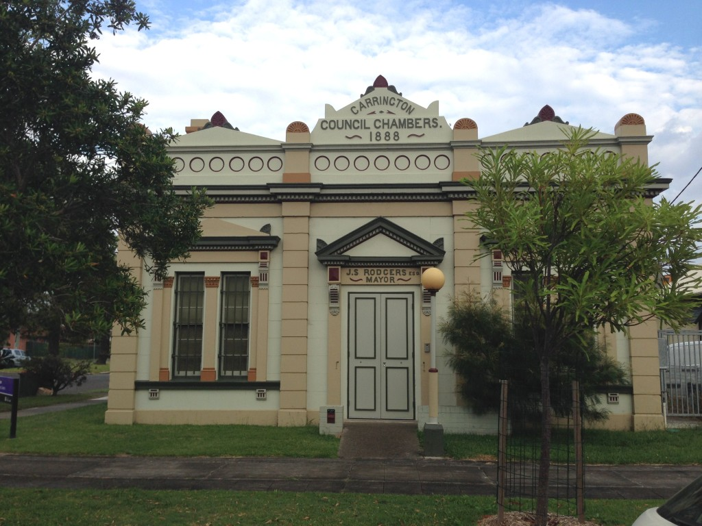 Carrington Council Chambers. March 2016.