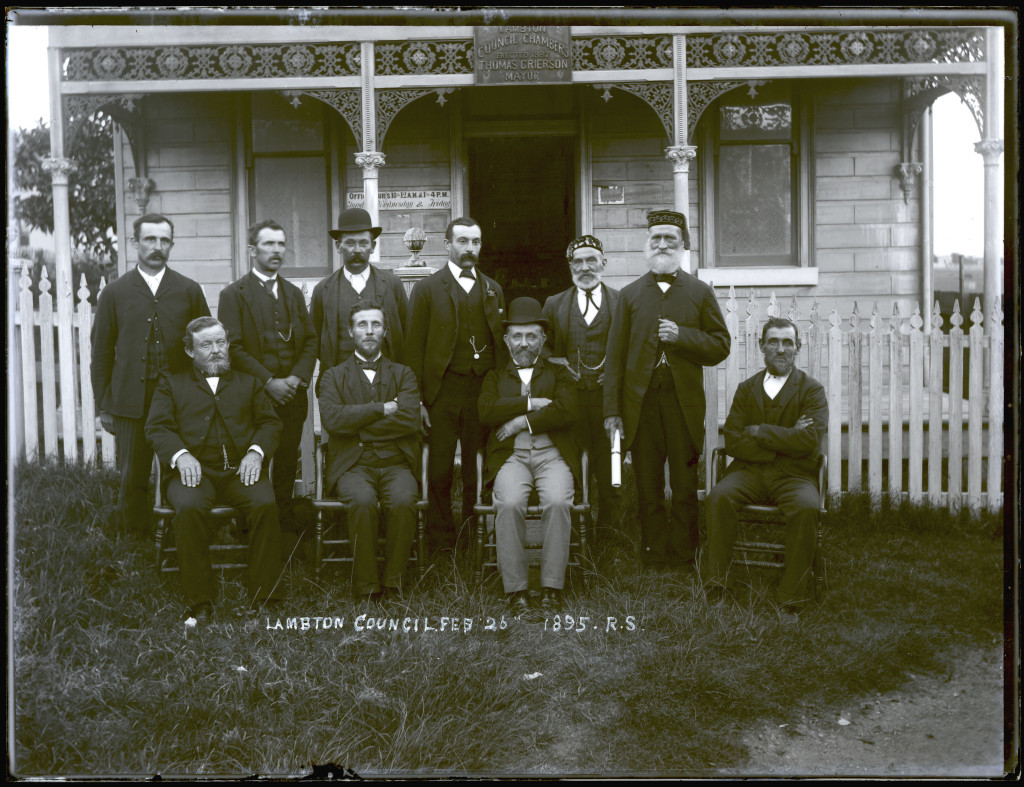 Lambton Aldermen. 26th February 1895. University of Newcastle Cultural Collections.