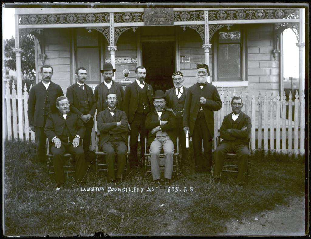 Lambton Aldermen. 26th February 1895. University of Newcastle Cultural Collections.