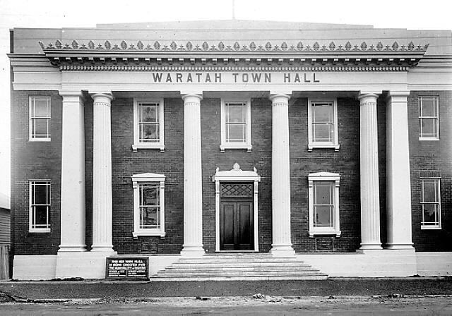 Third Waratah Council Chambers/Town Hall. Hanbury Street, Mayfield. Newcastle City Council, Hunter Photobank.