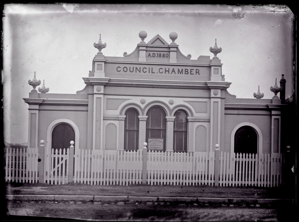 Hamilton Council Chambers 1880. University of Newcastle, Cultural Collections.
