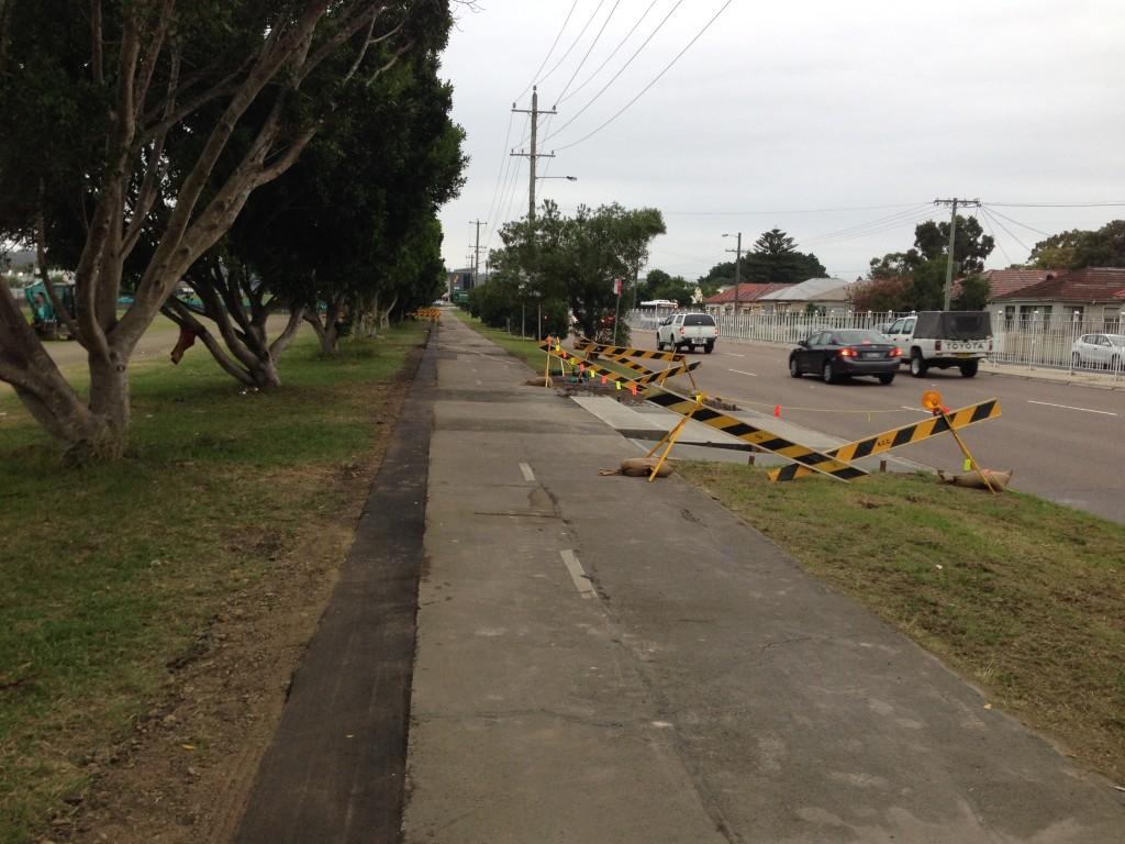 Cycleway. Turton Rd.