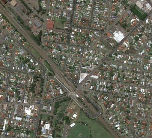 Waratah/Mayfield 2016. Google Earth.