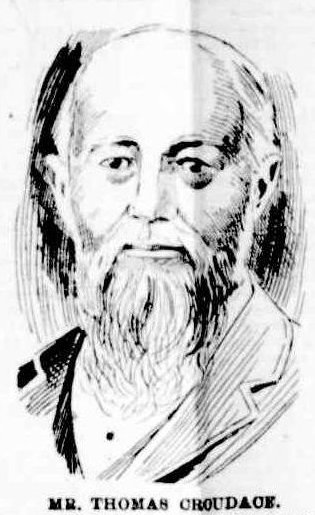 A drawing of Mr. Croudace from a profile piece in the Newcastle Morning Herald, 2nd April 1898.