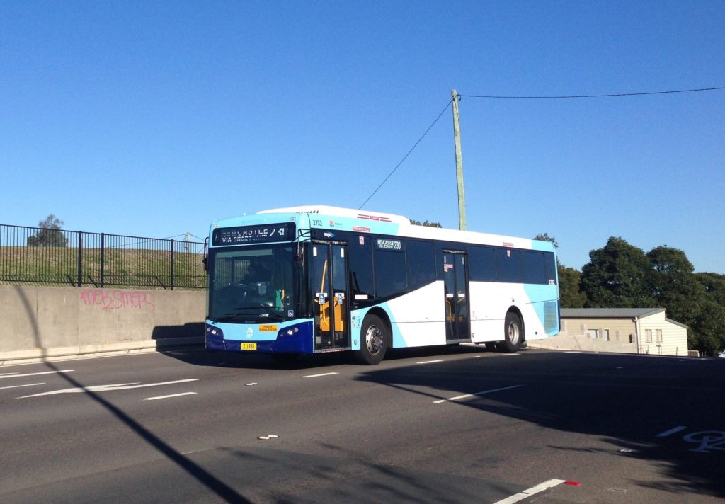 Newcastle Buses Route 230, on the Reservoir Hill in 2016.